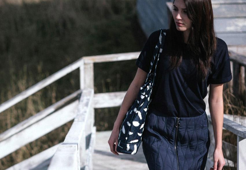 Herschel Supply — dámská černá nákupní taška přes rameno — Market XL Tote — podzim 2015 — lookbook