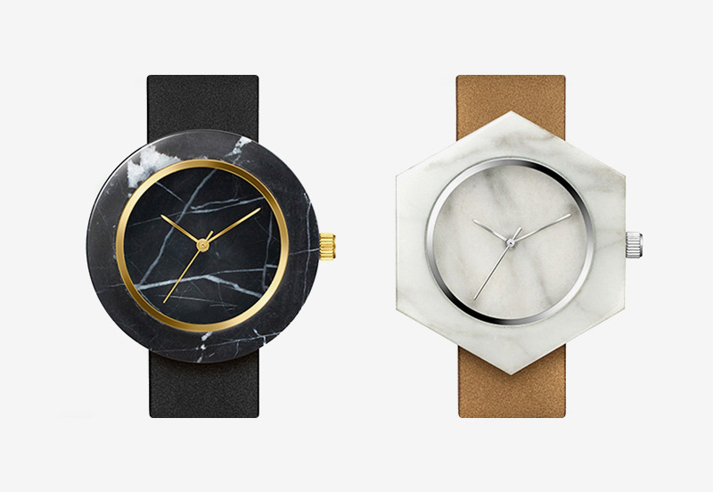 Analog Watch Co. — mramorové hodinky — marble watches