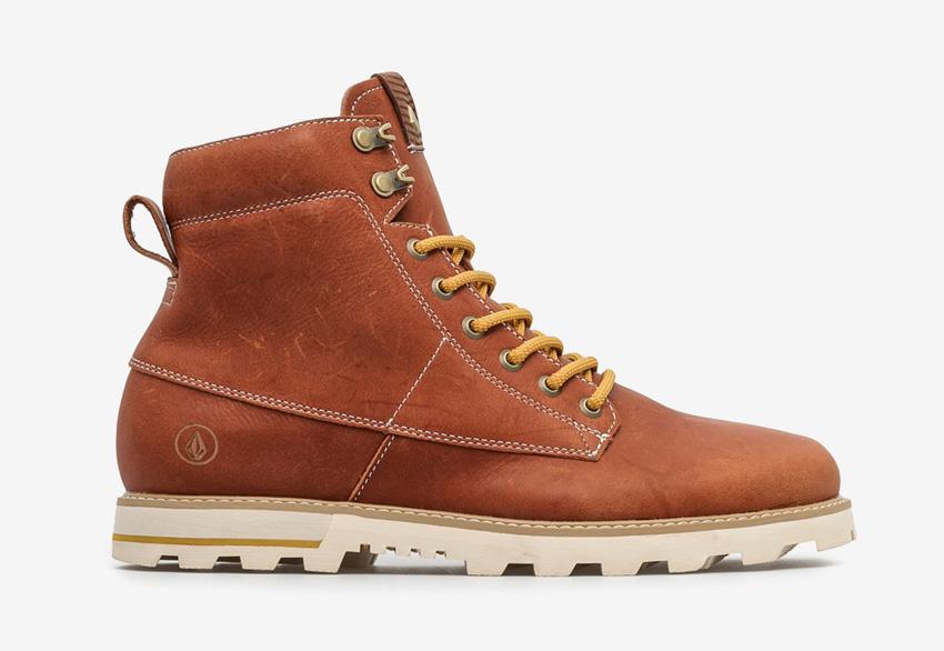 Volcom Smithington — vysoké pánské zimní boty, kožené, winter boots