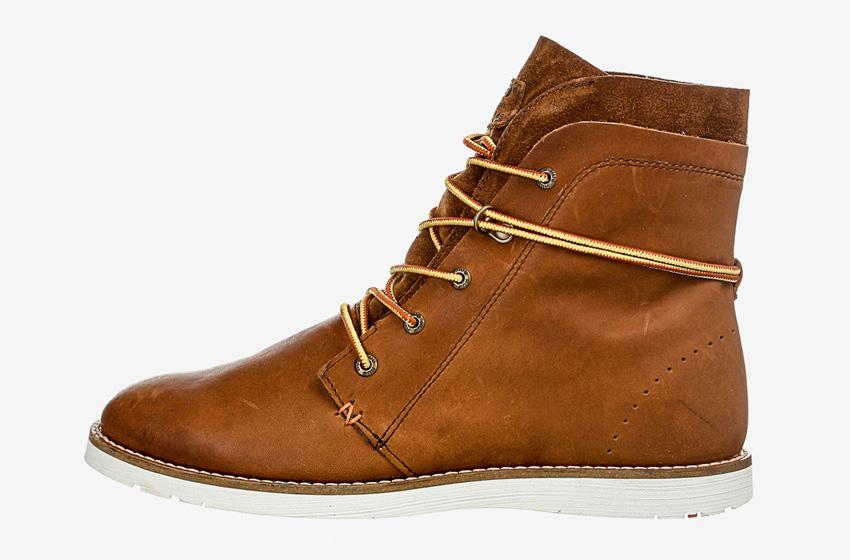 Hub Footwear — pánské zimní boty s kožešinou, vysoké, kotníkové, hnědé, kožené