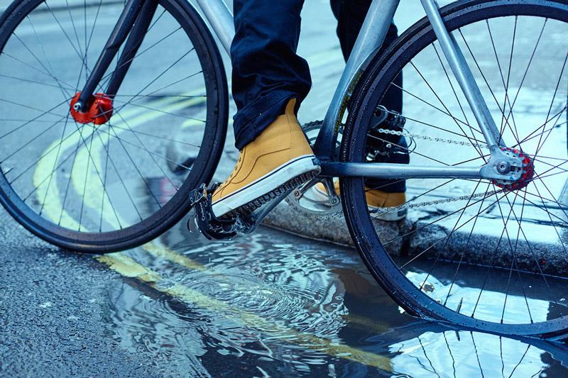 Vans — Mountain Edition — kotníkové boty SK8-Hi MTE, hnědé, žluté, horčicové — pánské, dámské