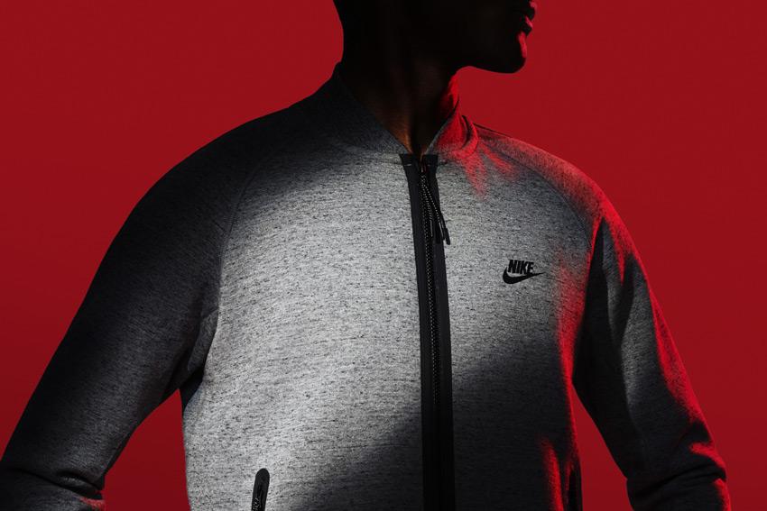 Nike Sportswear Tech Pack Fall 2015 — pánská šedá mikina na zip — sportovní oblečení — podzim 2015