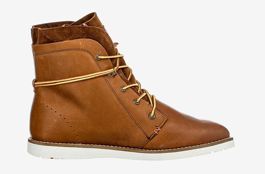 Hub Footwear — hnědé pánské zimní boty s kožíškem, kožené, kotníkové, winter boots