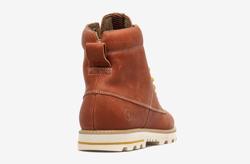 Volcom Smithington — zimní boty pánské, kožené, vysoké, hnědé, winter boots