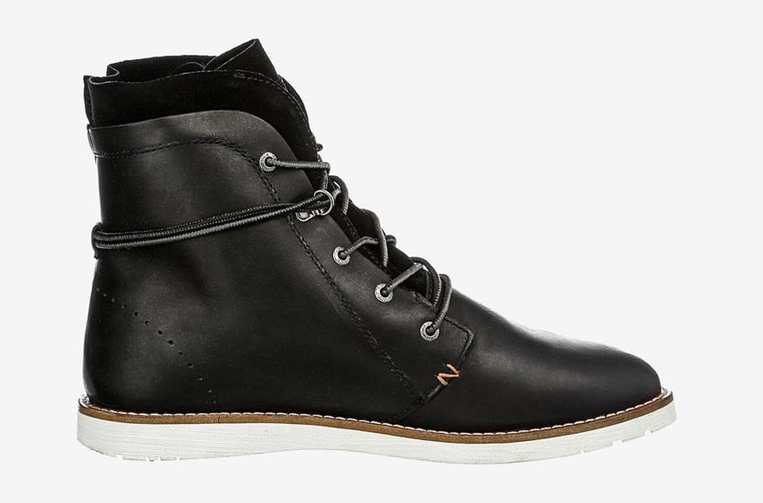 Hub Footwear — černé pánské zimní boty s kožíškem, kožené, kotníkové, winter boots