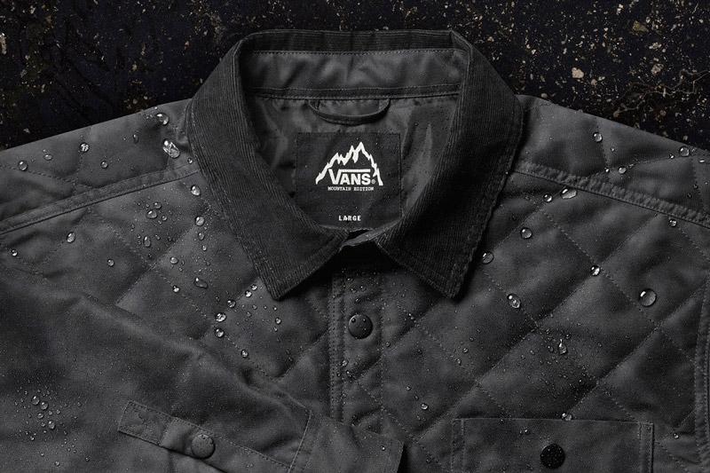 Vans — Mountain Edition — podzimní prošívaná bunda Simich, černá — pánská