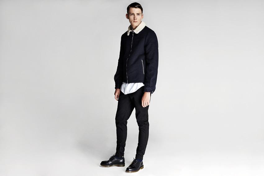 Daily Paper — pánský černý bomber, bunda do pasu, černé kalhoty — podzimní oblečení — 2015