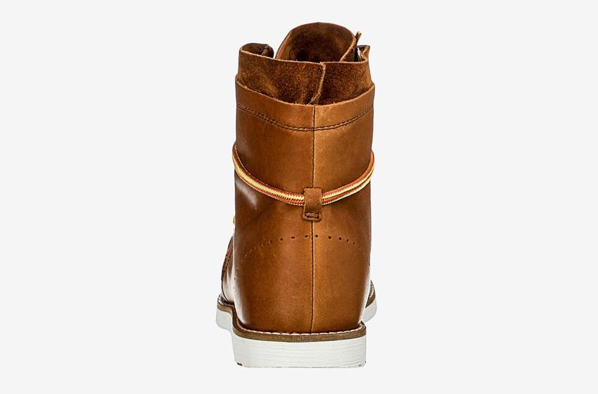 Hub Footwear — pánské zimní boty s kožešinou, kožené, vysoké, kotníkové, hnědé, winter boots