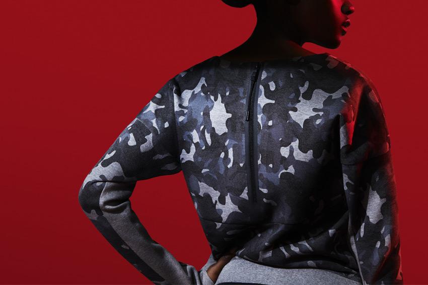 Nike Sportswear Tech Pack Fall 2015 — maskáčová mikina na zip — sportovní oblečení — podzim 2015