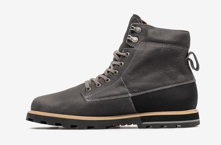 Volcom Smithington — pánské zimní boty z kůže, vysoké, černé, winter boots