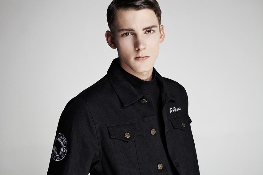 Daily Paper — pánská černá blůza, army bunda bez kapuce — podzimní oblečení — 2015