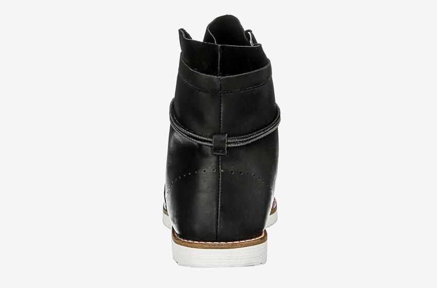 Hub Footwear — pánské zimní boty s kožešinou, kožené, vysoké, kotníkové, černé, winter boots