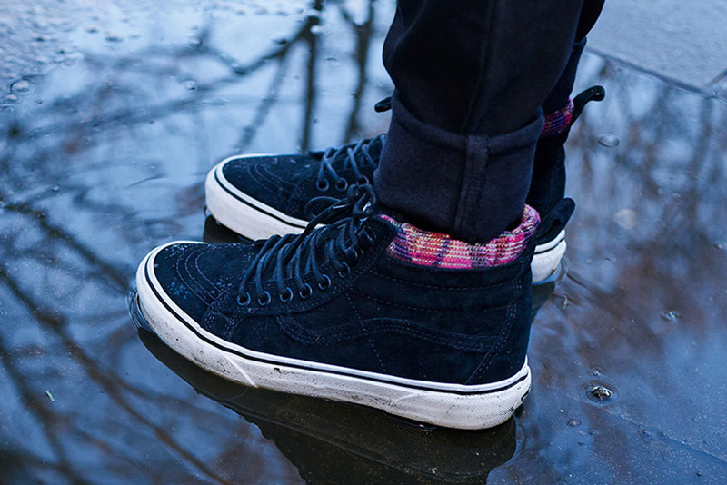 Vans — Mountain Edition — kotníkové boty SK8-Hi MTE, podzimní/zimní, černé — dámské, pánské