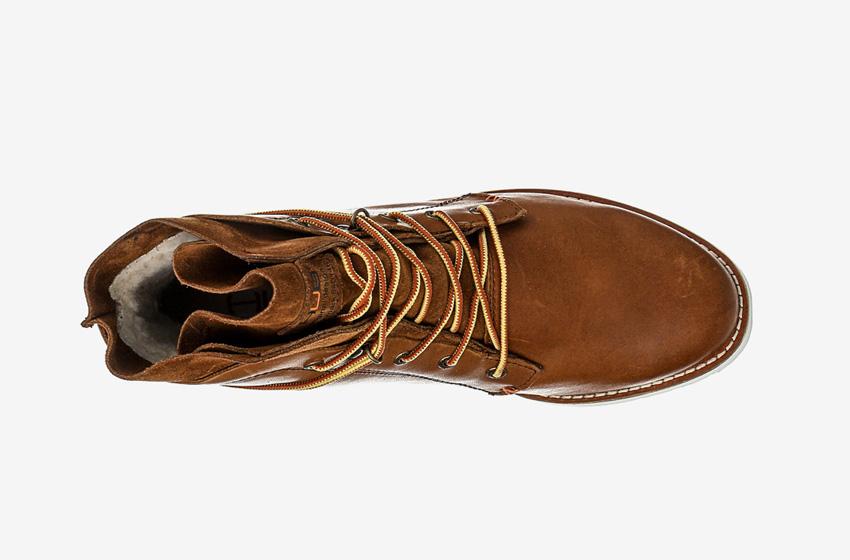 Hub Footwear — vysoké kotníkové pánské zimní boty, hnědé, kožené, winter boots