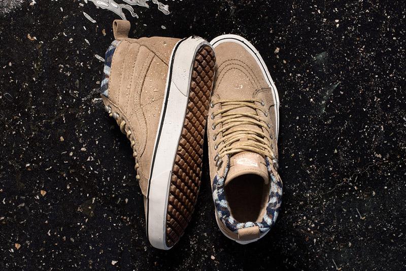 Vans — Mountain Edition — kotníkové boty SK8-Hi MTE, podzimní/zimní, světle hnědé