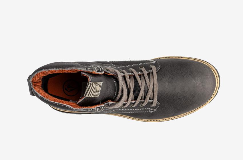 Volcom Smithington — vysoké pánské zimní boty, kožené, černé, winter boots