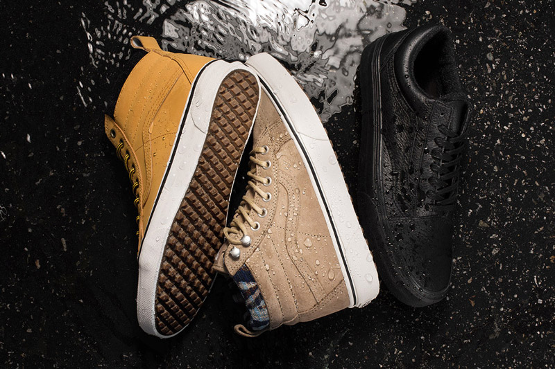 Vans — Mountain Edition — kotníkové boty SK8-Hi MTE, podzimní/zimní, horčicové, světle hnědé, nízké černé tenisky Old Skool MTE