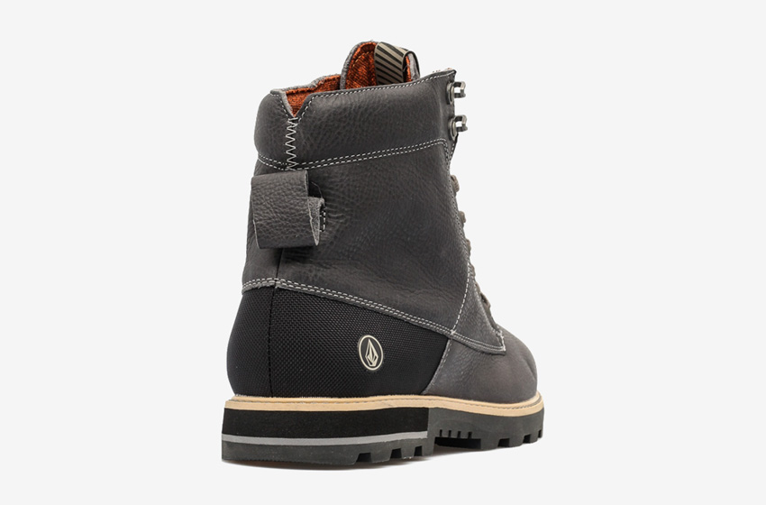 Volcom Smithington — zimní boty pánské, kožené, vysoké, černé, winter boots