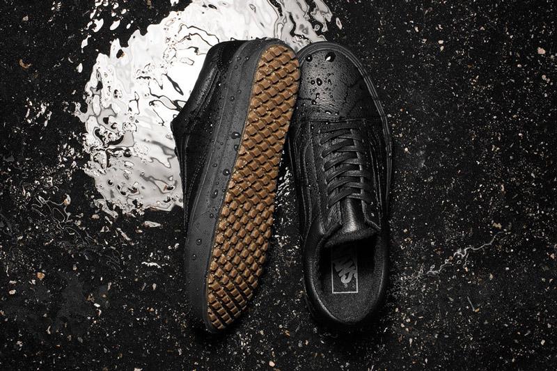 Vans — Mountain Edition — nízké černé boty Old Skool MTE, tenisky, kožené