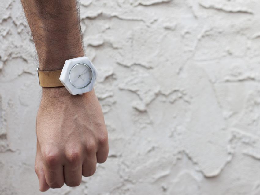 Analog Watch Co. — bílé mramorové hodinky — marble watches