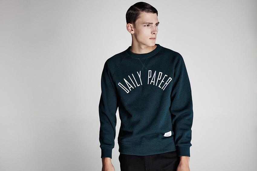 Daily Paper — pánská zeleno-modrá mikina — podzimní oblečení — 2015