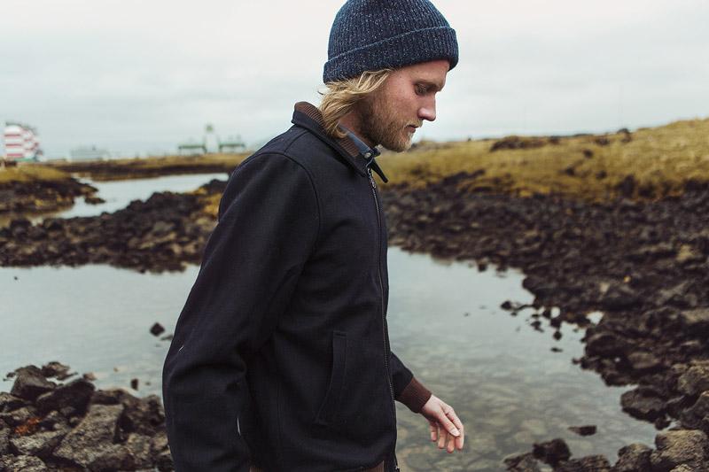 Olow — pánský tmavě modrý zimní bomber — pánské oblečení — lookbook podzim/zima 2015