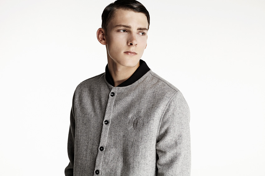 Daily Paper — šedý bomber, pánský — podzimní oblečení — 2015