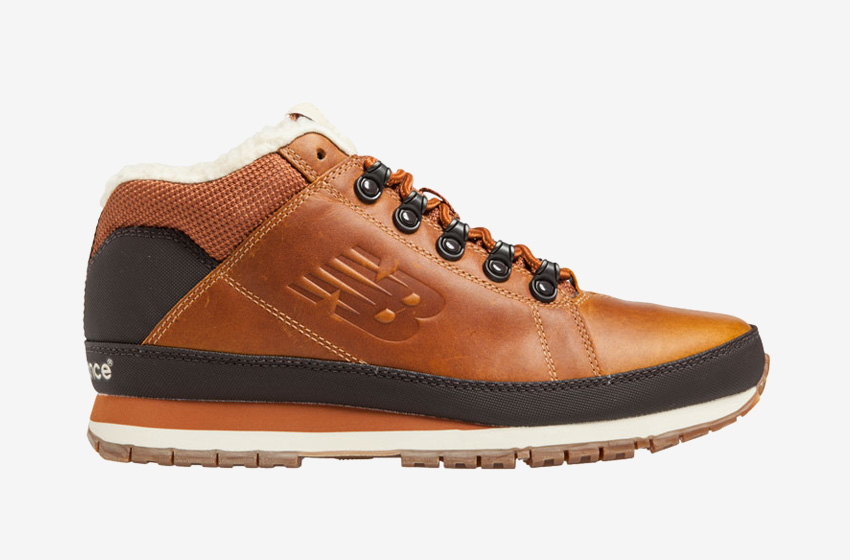 New Balance — H754LFT — pánské zimní boty s kožešinou — hnědé, kožené