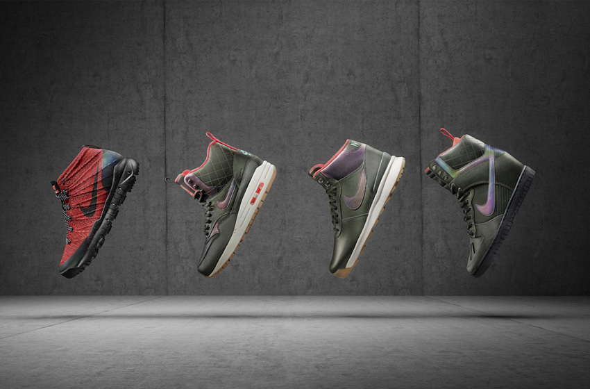 Nike SneakerBoots — dámské zimní boty, kotníkové, vysoké, zateplené, voděodolné