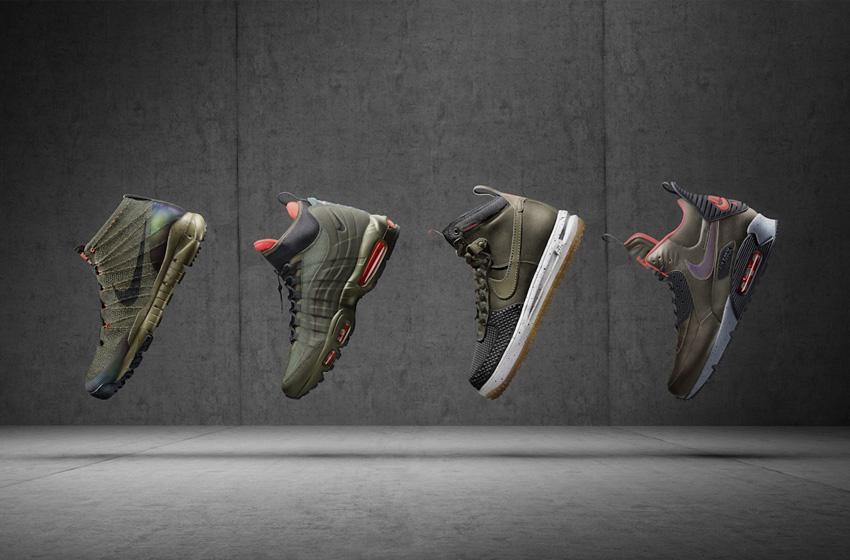 Nike SneakerBoots — pánské zimní boty, kotníkové, vysoké, zateplené, voděodolné