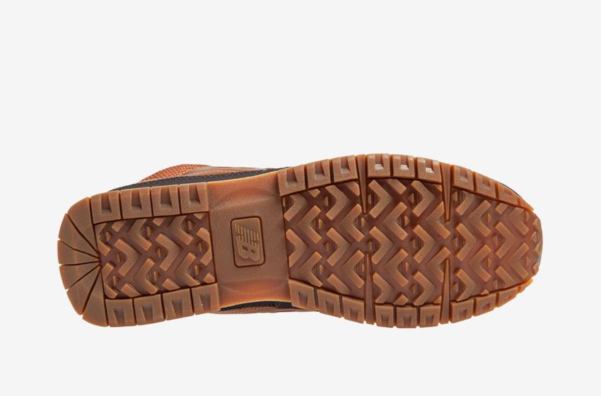 New Balance — H754LFT — pánské zimní boty s kožešinou — hnědé, kožené — hnědá podrážka