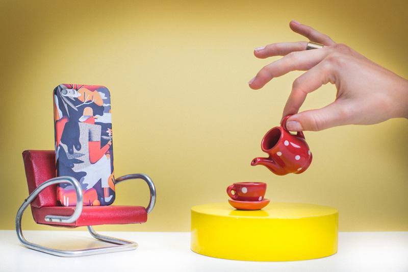 Retart — kryt na iPhone 4/4s, iPhone 5/5s, iPhone 6/6s — barevný kryt na mobil s ulistrací — iPhone case — Karol Banach