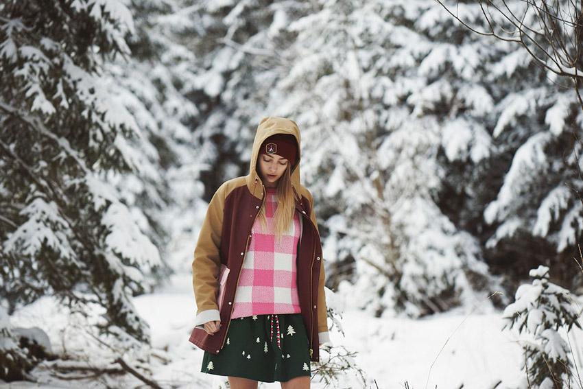 Femi Pleasure — gumový pršiplášť s kapucí, dámský, hnědo-červený, gumová nepromokavá bunda — dámské oblečení podzim/zima — fall/winter 2015