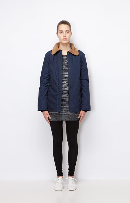 Ucon Acrobatics — dámská modrá zimní bunda s kožešinovým límcem — dámské oblečení podzim/zima 2015