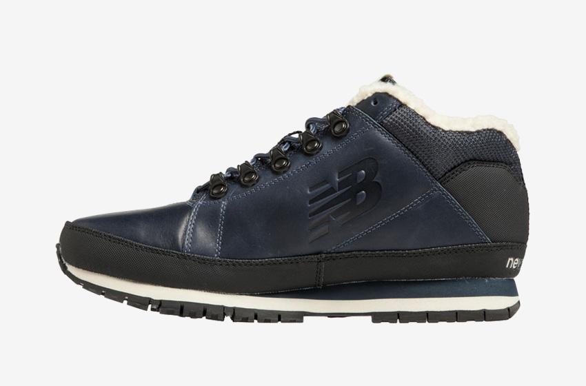 New Balance — H754LFN — pánské zimní boty s kožešinou — tmavě modré, kožené