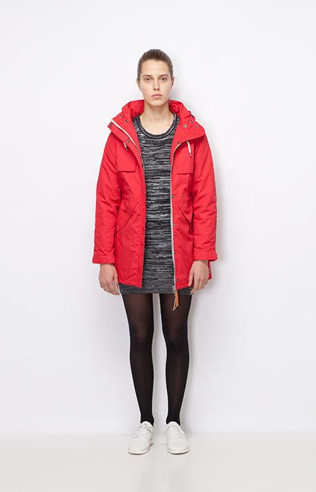 Ucon Acrobatics — dámská zimní bunda/parka s kapucí, červená — dámské oblečení podzim/zima 2015