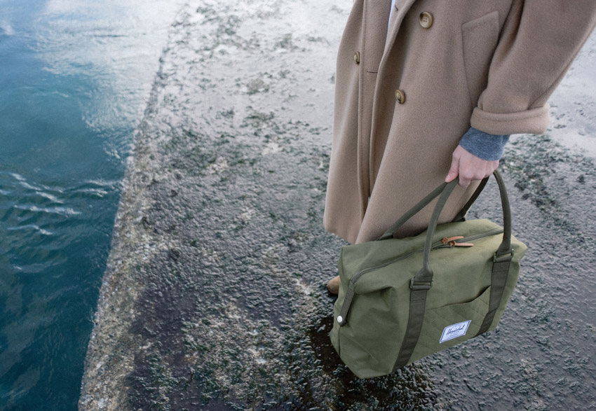Herschel Supply Co. — cestovní taška do ruky, zelená — Strand Duffle — holiday lookbook 2015