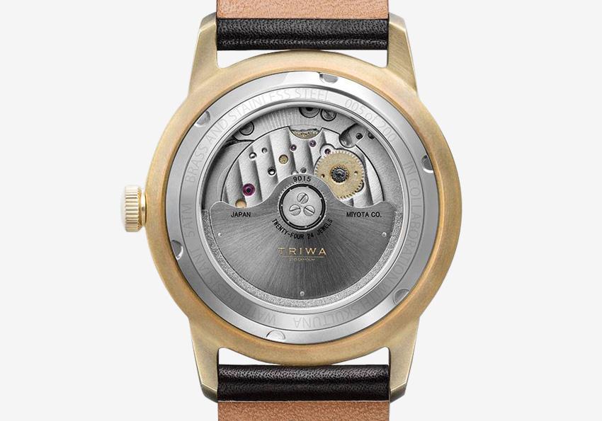 Hodinky Triwa x Skultuna — dámské a pánské luxusní náramkové hodinky s viditelným strojkem — detail