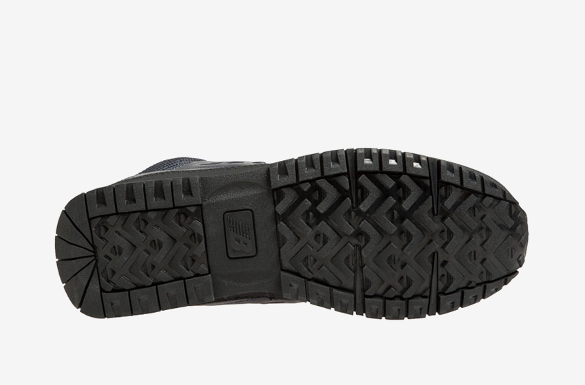 New Balance — H754LFN — pánské zimní boty s kožešinou — tmavě modré, kožené — černá podrážka