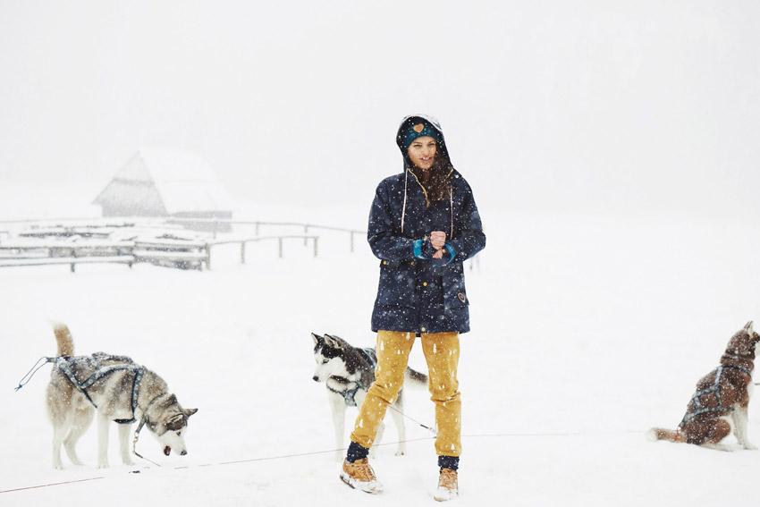 Femi Pleasure — gumový pršiplášť s kapucí, dámský, modrý, gumová nepromokavá bunda — dámské oblečení podzim/zima — fall/winter 2015