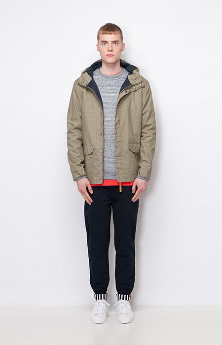 Ucon Acrobatics — pánská podzimní bunda/parka s kapucí, béžová, khaki — kalhoty, černé — pánské oblečení — podzim/zima 2015