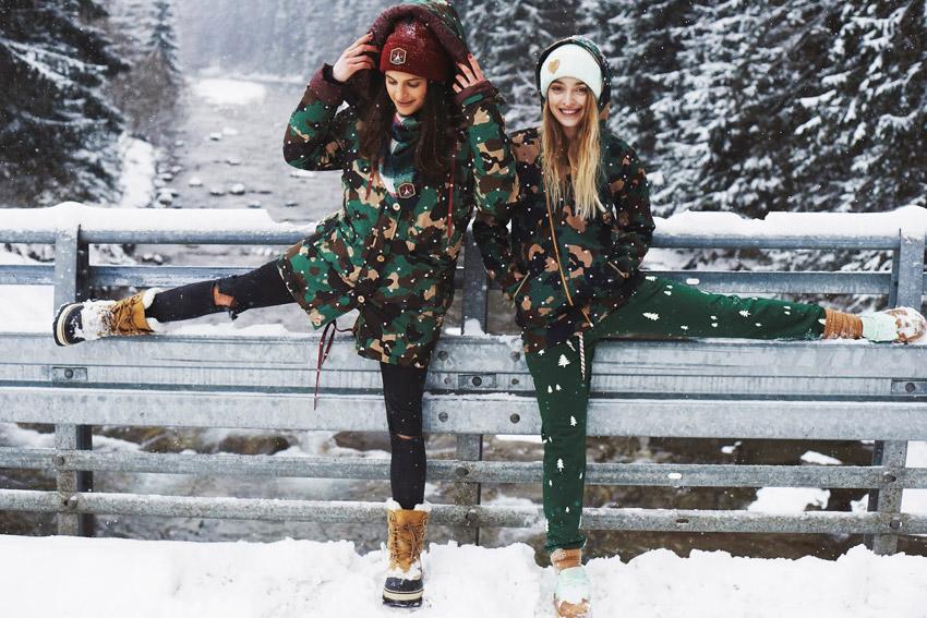 Femi Pleasure — dámské zimní maskáčové bundy s kapucí — dámské oblečení podzim/zima — fall/winter 2015
