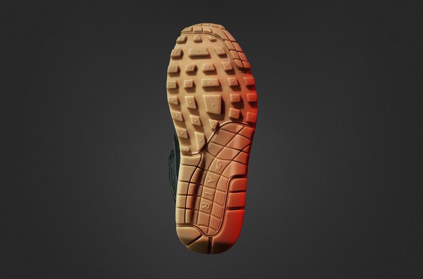 Nike Air Max 1 Mid SneakerBoot — dámské zimní boty, vysoké kotníkové, podrážka