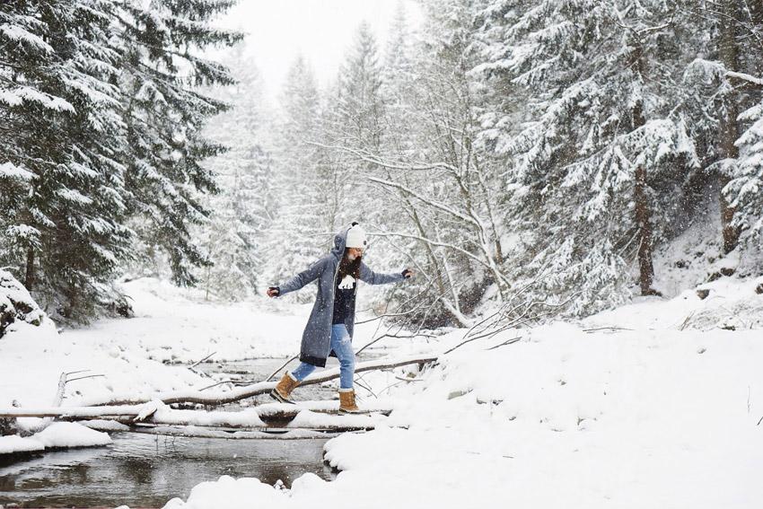 Femi Pleasure — šedá zimní bunda s kapucí, dámská, dlouhá — dámské oblečení podzim/zima — fall/winter 2015