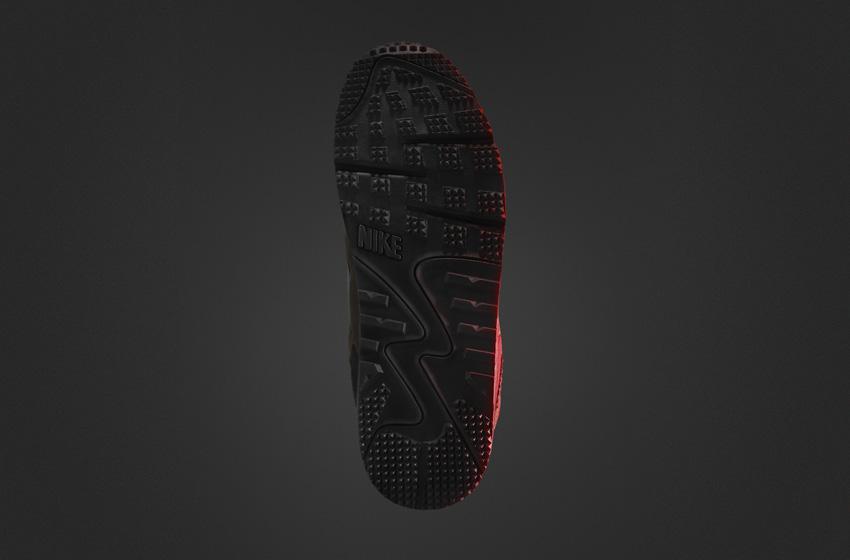 Nike Air Max 90 SneakerBoot — pánské zimní boty, vysoké kotníkové, podrážka
