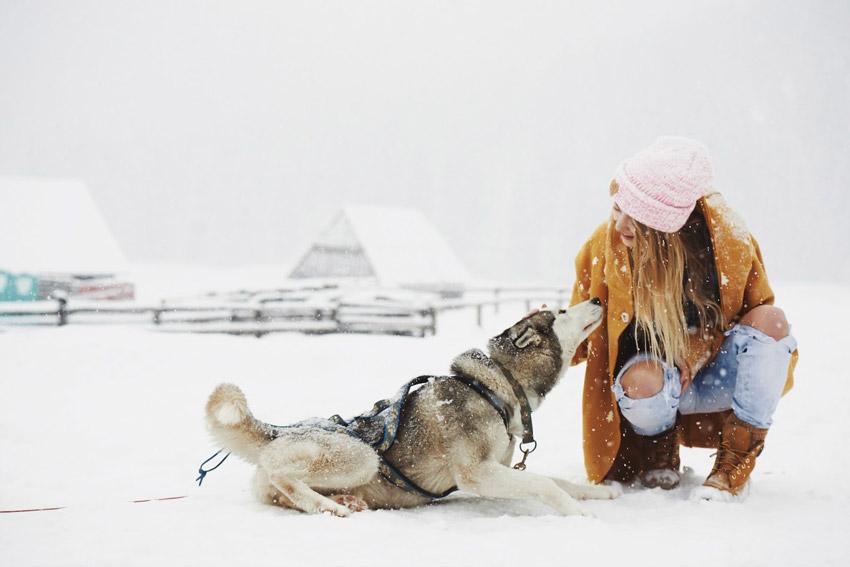 Femi Pleasure — dlouhý dámský hnědý zimní kabát — dámské oblečení podzim/zima — fall/winter 2015