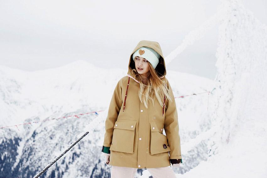 Femi Pleasure — gumový pršiplášť s kapucí, dámský, hnědý, béžový, gumová nepromokavá bunda — dámské oblečení podzim/zima — fall/winter 2015