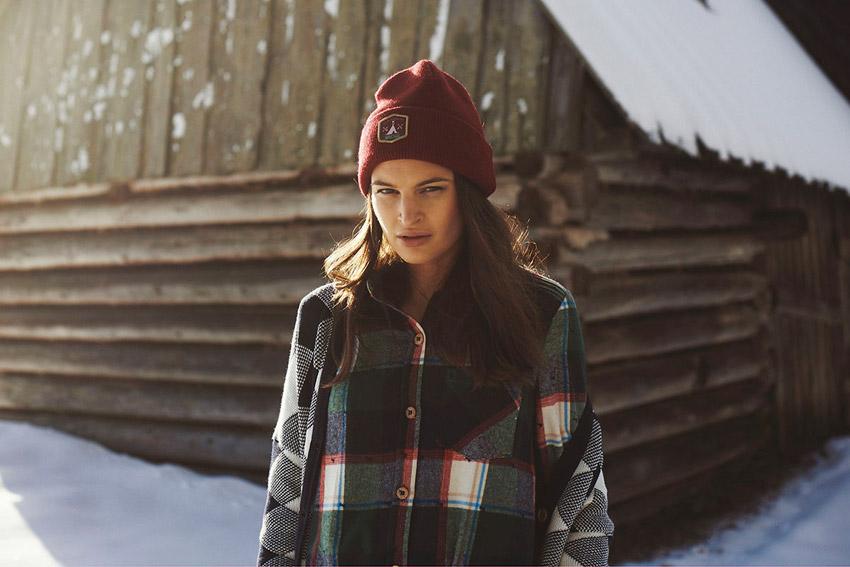 Femi Pleasure — dámský zimní kostkovaný kabát — dámské oblečení podzim/zima — fall/winter 2015