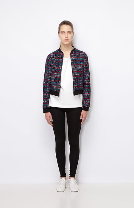 Ucon Acrobatics — krátká dámská bunda s kostkovaným vzorem — dámské oblečení podzim/zima 2015