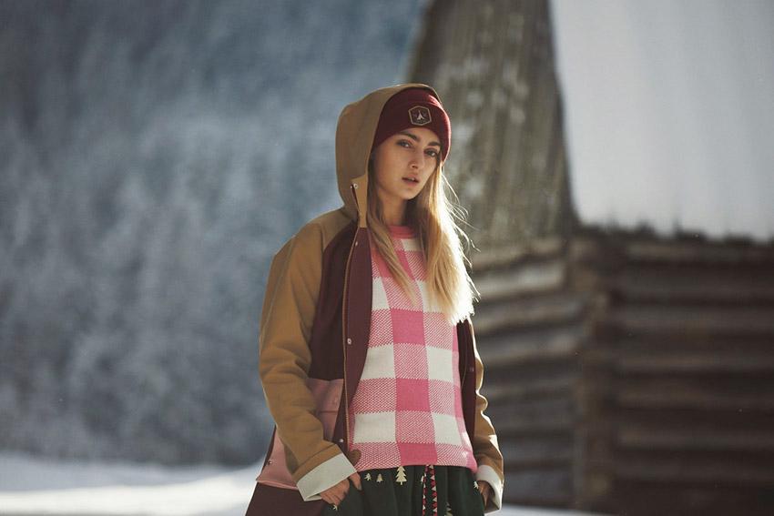 Femi Pleasure — gumová nepromokavá bunda, gumový pršiplášť s kapucí, dámský, hnědo-červený — dámské oblečení podzim/zima — fall/winter 2015
